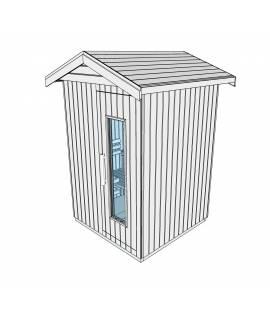 Sauna d'extérieur 2 pers. 1m44 x 1m44