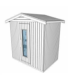 Sauna d'extérieur 4 pers. 2m12 x 1m44