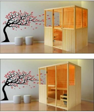 options et accessoires pour cabine sauna. Black Bedroom Furniture Sets. Home Design Ideas